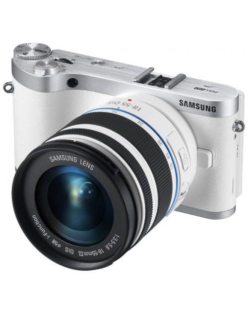 كاميرا سامسونج NX300 - 20.3 ميجابكسل، بوينت اند شوت، ابيض