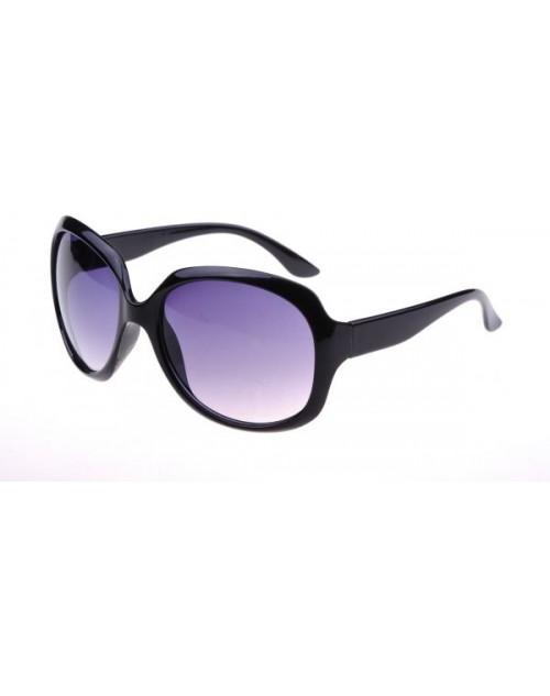 نظارة شمسية نسائية ذات لون أسود و إطار أسود