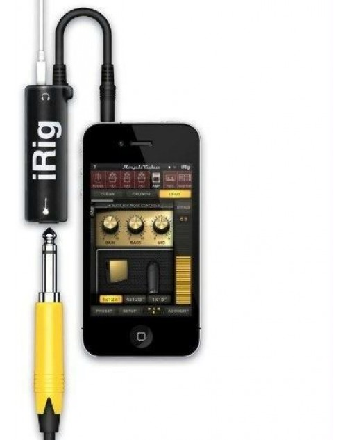 AmpliTube iRig Guitar Tone on your iPhone