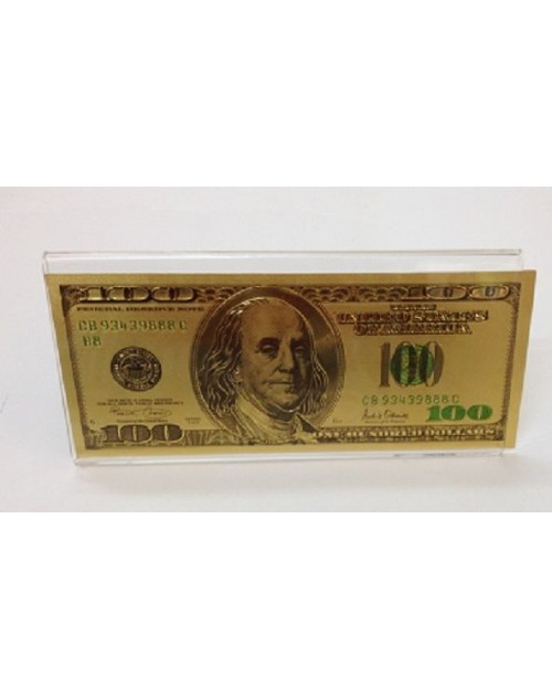 100 dollar note gold plated money
