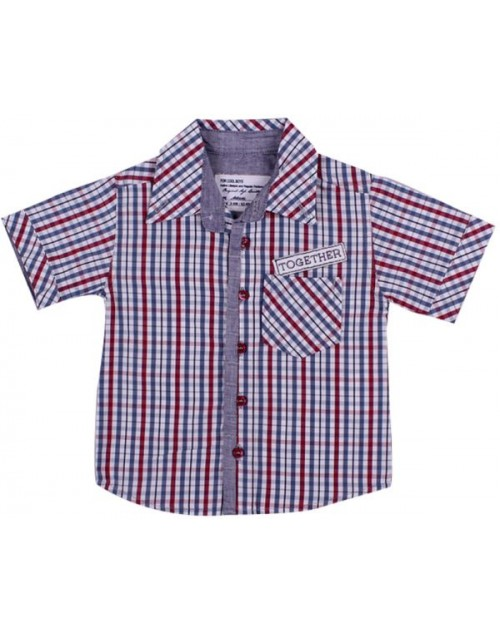 عزيز بيبي 019138 قميص نص كم للأولاد - ملون ( من 3 إلى 6 شهور )