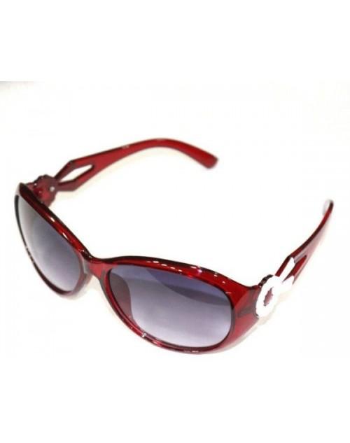 نظارة شمس نسائية باطار احمر شفاف