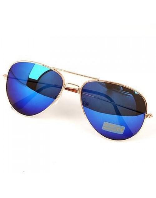 نظارة شمس للجنسين بعدسات مرايا ملونة لون أزرق