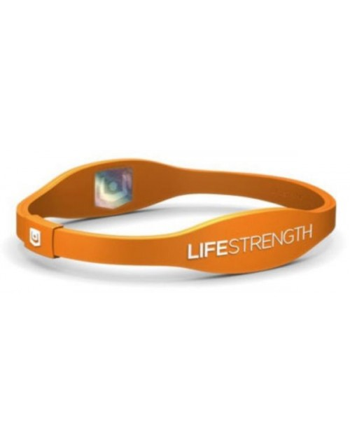 Endevr Lifestrength Negative Ion infused Ionic Wristband, Orange Medium 7 1/2