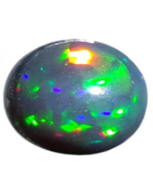 حجر أوبال أسود شفاف ناري متغير اللون بوزن 2.0 قيراط