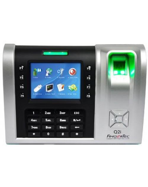 جهاز تسجيل وقت الحضور وفتح الباب بالألوان عن طريق بصمة الإصبع