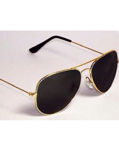 نظارات شمسية للرجال لون ذهبي واسود 36