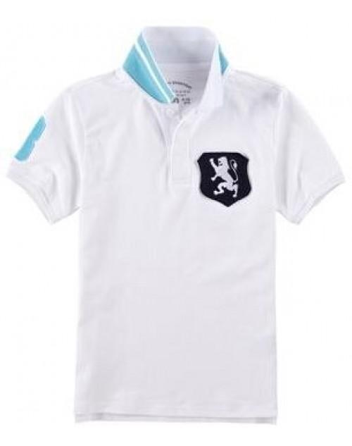 Lion Badge Polo for Boys