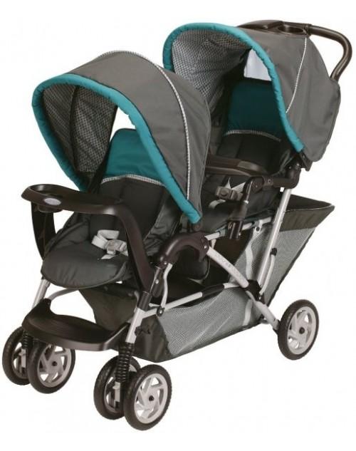 جراكو 1853476 عربة أطفال ثنائية قابلة للطي - أزرق