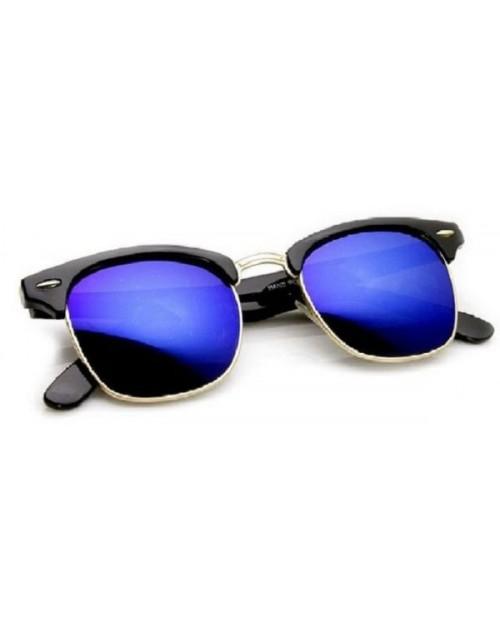 نظارات شمسية للجنسين لون ذهبي وازرق