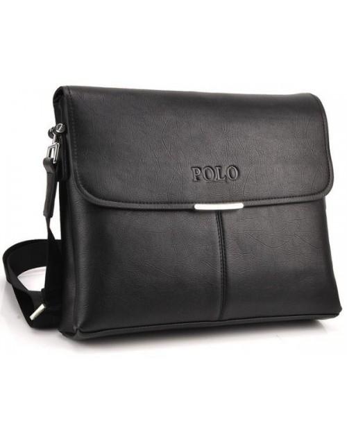 حقيبة جانبية للرجال جلد اصلي لون اسود